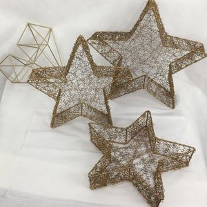 Gorgeous Wire & Beaded Star Baskets